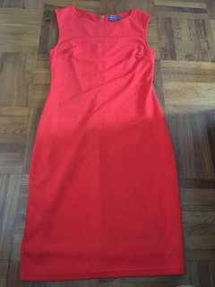 Preloved Temt Orange-Red Dress