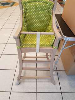 🚚 Wooden Baby high chair germany made