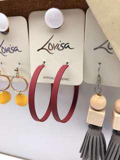 Lovisa Earrings Pink Hoops