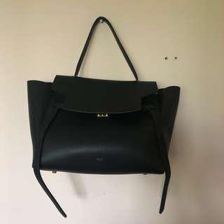 Celine Black Belt Bag in Medium