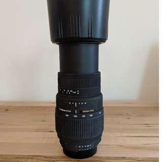 Sigma 70-300mm macro telephoto zoom lens