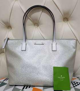 Kate Spade Hanna Glitter Tote Bag