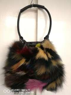 Furry accent handbag