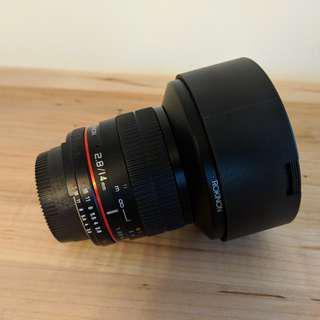 Rokinon 2.8/14mm lens