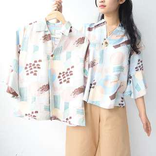 PATTERN TOP BELL SLEEVE
