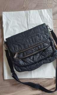 DKNY Black bomber messenger bag