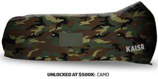 KAISR inflatable lounger: green camo colour (used once!)