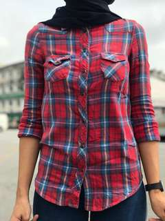 TOPSHOP Checkered Shirt