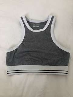 Cotton on grey crop top