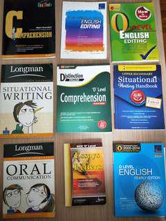 English o level assessment books/textbook/practice question/notes