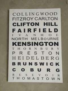 Melbourne suburb canvas print