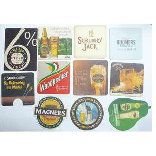 England UK CIDER BEER MAT COASTER Magners Strongbow Woodpecker Westons Bulmers Scrumpy Jack DRIP MAT