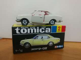 全新絕版tomica 黑黃盒 toyota corona mark II 1900 ht