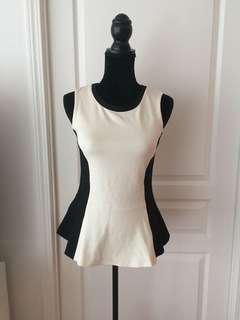 Aritzia Wilfred Peplum Top/Shirt/Blouse