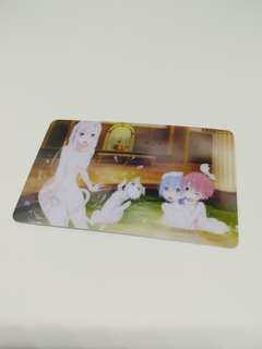 Re zero Bath Card Sticker