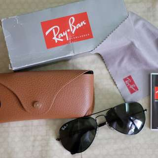 Ray-Ban Aviator RB3025 Black Polarized