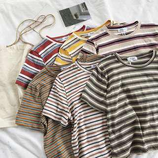 [PO] Striped Crop Top