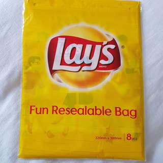 Lay's Resealable Bag 8pcs