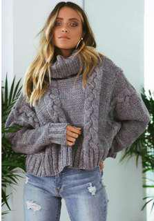 Grey Cable Knit - worn once