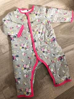 GAP Baby Clothes 女童碎花連身夾棉褸 外套