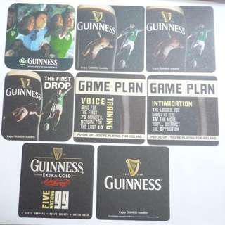IRELAND UK GUINNESS BEER MAT COASTER Special 1999-2008 rugby 5-Nations DRIP MAT
