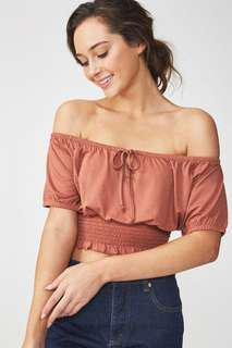BN Cotton On Off Shoulder Crop Top