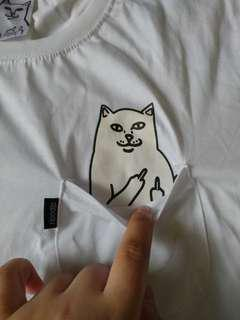 😸 Ripndip - Lord Nermal Backprint Tee (White) - Large