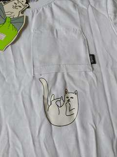 😸 Ripndip - Falling for Nermal Pocket Tee (White) - Medium