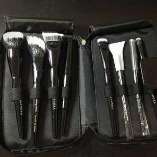 New Sephora make up brush set with case