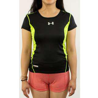 Under Armour Black and Yellow workout tee
