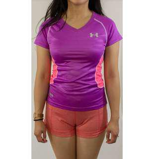 Under Armour Purple and Pink workout tee