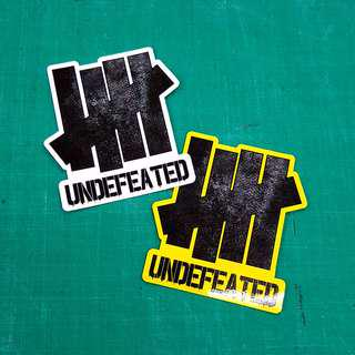 Undefeated Sticker - 10cm(W) X 10cm(Ht)