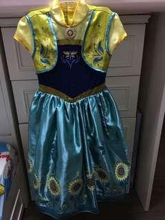 迪士尼公主裙-安娜
