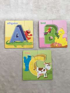 Sesame Street ABC puzzles for toddlers