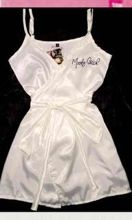 OMIGHTY moody bitch silk dress