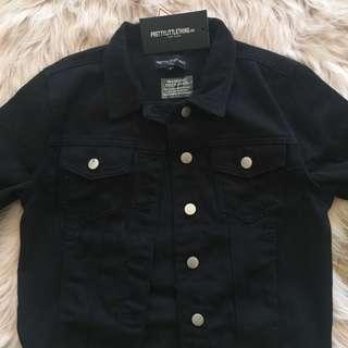 PLT Black Denim Jacket