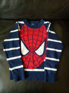 Spiderman knit top for winter 99%new for 18~24m