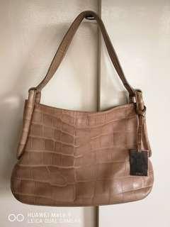Furla crocs leather bag