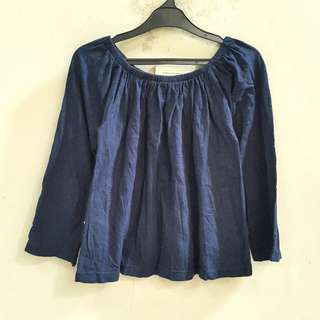 Sixence Navy Top