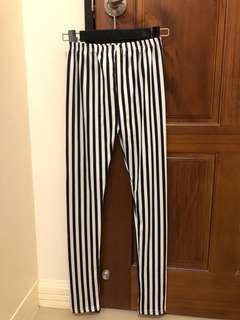 🚚 東京著衣- 黑白條紋褲