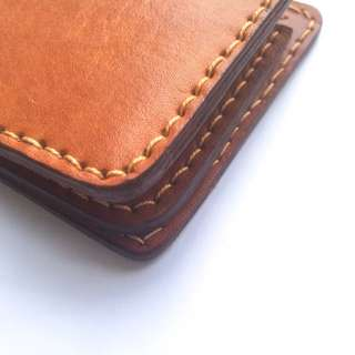 Dompet Kulit Sapi Nabati Leather Bifold Wallet