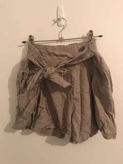 Glassons Khaki Pleated Shorts