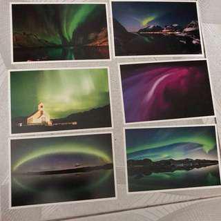 明信片 postcard - 極光 Aurora 北極光 2