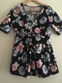 Maternity floral top