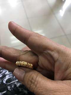Ring w/diamondstone size 6 2.2 grams