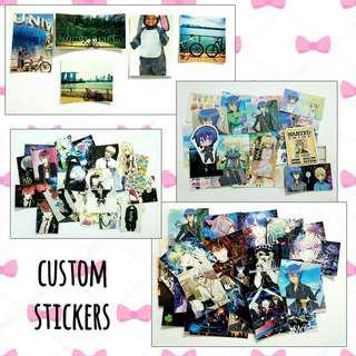 🚚 Customized stickers