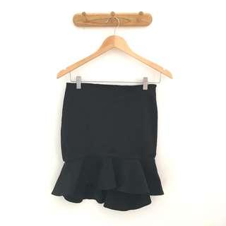 ZARA Black Skirt Ruffles