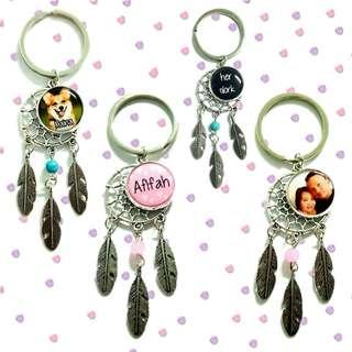 🚚 Customized dreamcatcher keychains