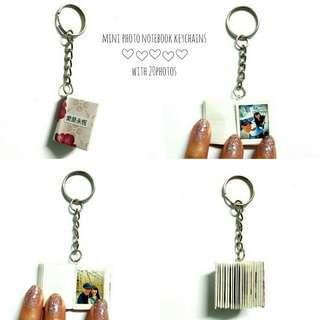 🚚 Mini photo notebook keychains