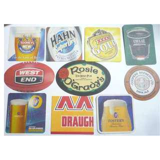 AUSTRALIA BEER MAT COASTER Toohey's Hahn Castlemaine Fosters West End DRIP MAT 2005-2008